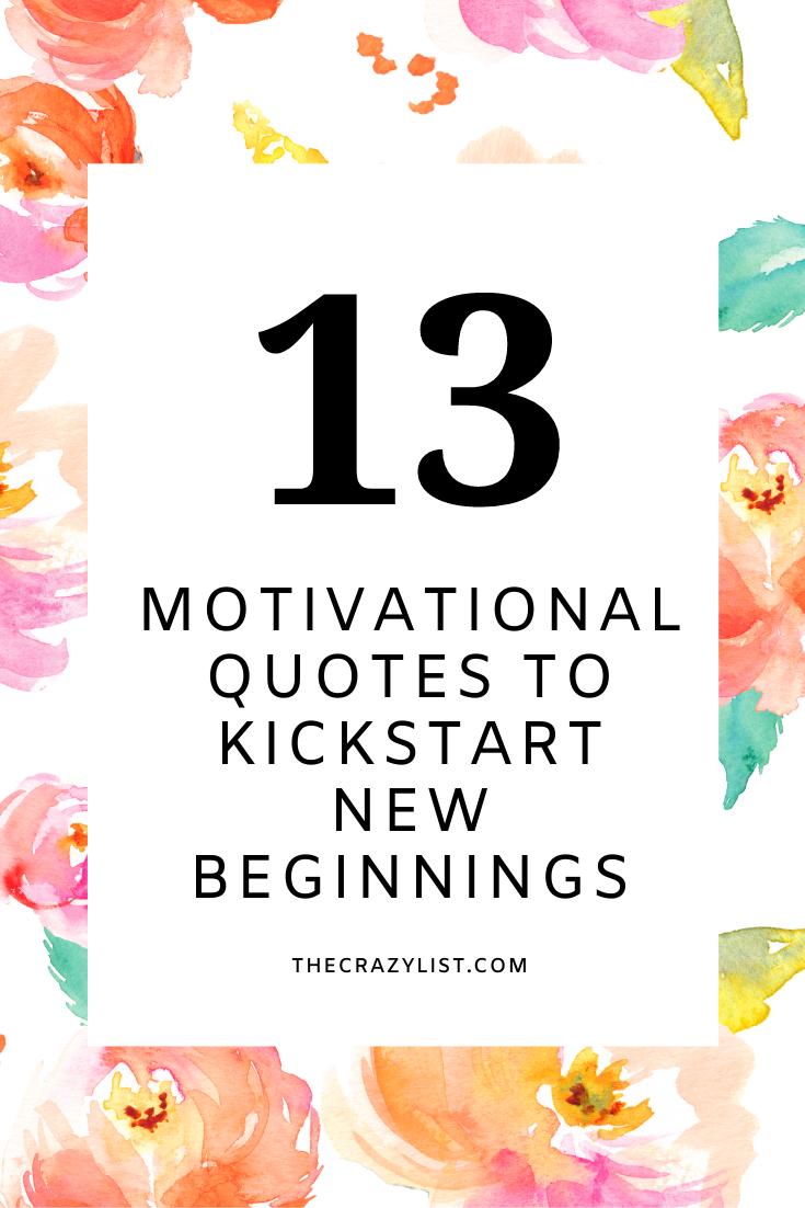 Kickstart new beginnings